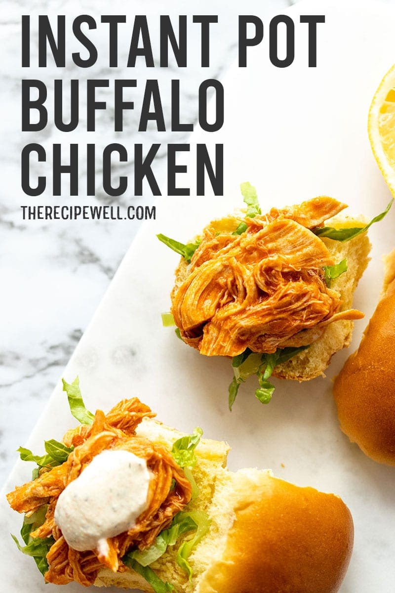 Instant Pot Buffalo Chicken is one of the easiest meals to make in your pressure cooker! Made with simple ingredients and only 20 minutes of active prep! via @therecipewell