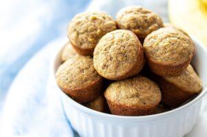 Gluten Free Banana Mini Muffins (Dairy & Nut free!)
