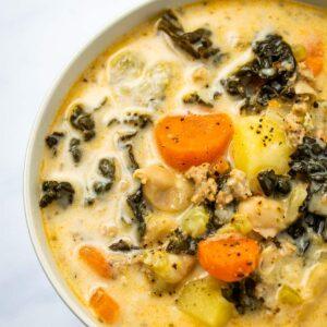 Healthy Instant Pot Zuppa Toscana (Dairy free!)