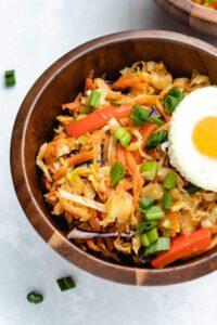 Vegetarian Egg Roll in a Bowl (Meal Prep!)