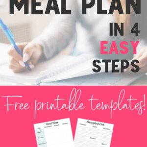 How to Meal Plan in 4 Easy Steps