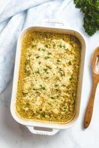 Cheesy Chicken and Zucchini Casserole