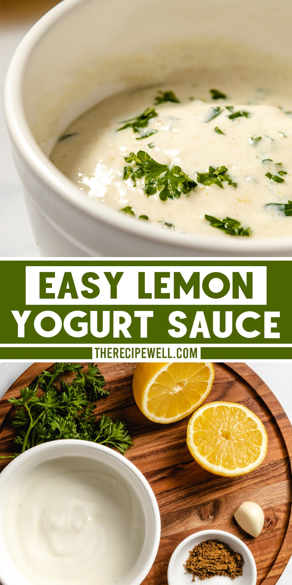 This healthy, flavourful lemon yogurt sauce is a great accompaniment to spicy curries or on top of grilled chicken or fish. You need just a handful of ingredients and 5 minutes of prep! via @therecipewell