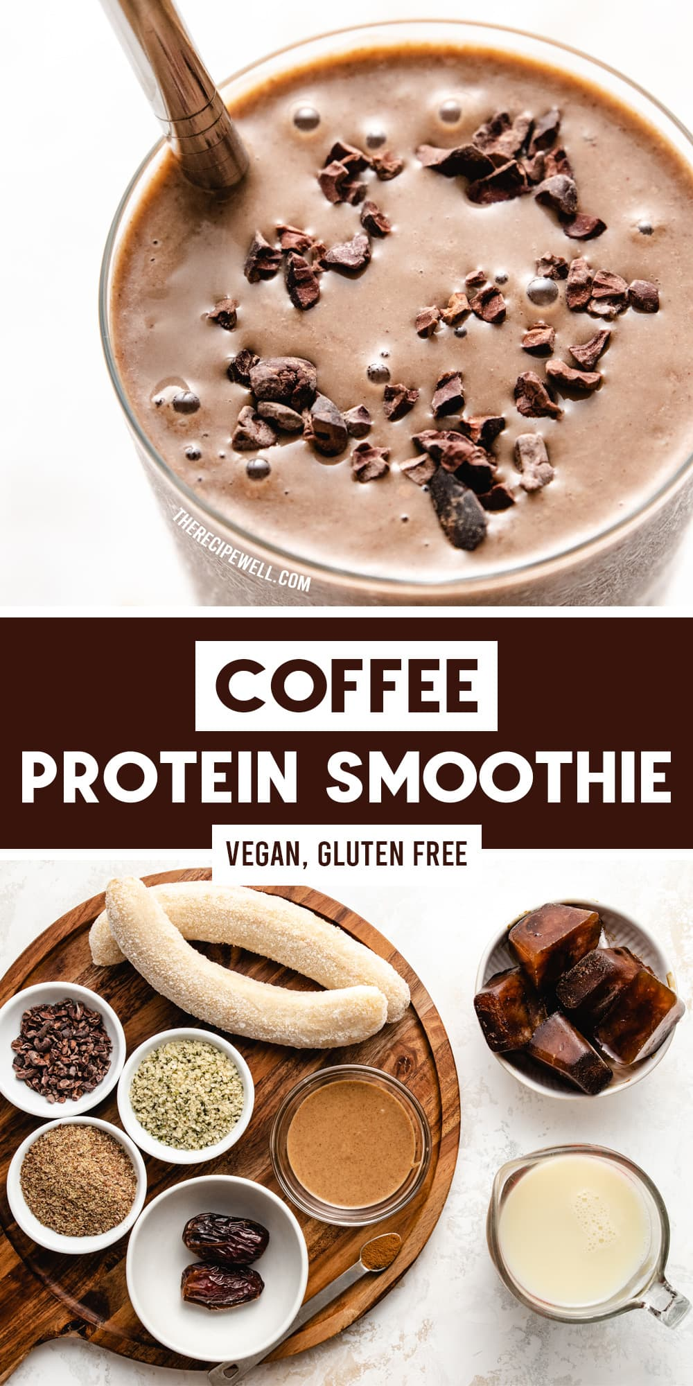 The ultimate smoothie for coffee lovers! This thick and creamy Coffee Protein Smoothie is made with nourishing ingredients like banana, hemp hearts, flax seed and almond butter. It's a delicious on-the-go breakfast! via @therecipewell