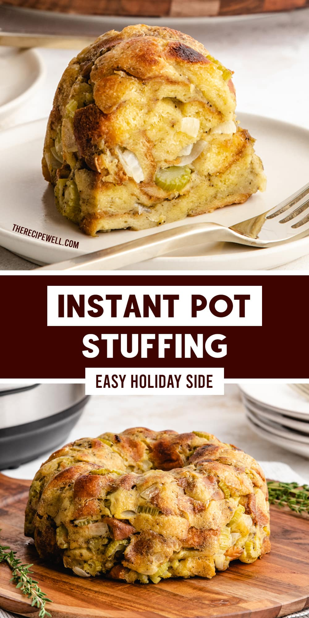 Are you making your holiday dressing outside the turkey? Look no further than this Instant Pot Stuffing. Made with simple ingredients, this stuffing casserole is easy to make and has classic, savoury holiday flavour. via @therecipewell